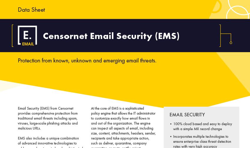 Email Security Datasheet - Censornet